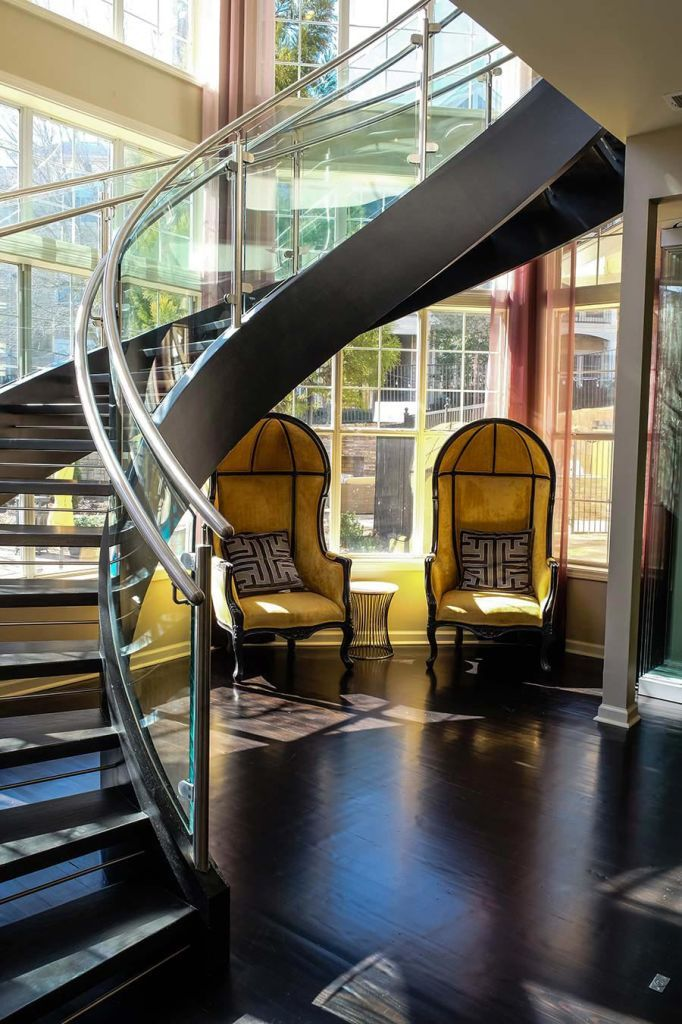 Curved Stairs in 2020   Spiral stairs design, Railing ...