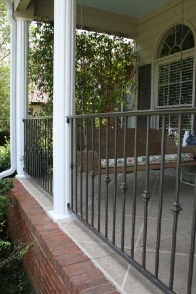 Porch railing. Basic but NOT in black. This is the color I ...
