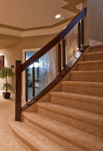 Glass Stair Railings | Artistic Stairs Canada