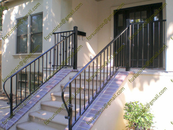 Exterior Simple Wrought Iron Stair Railings With ...