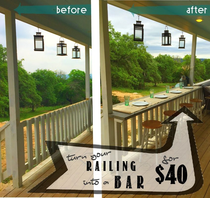 Turn your railing into an Eat Up Bar for $40 - Fid out how ...