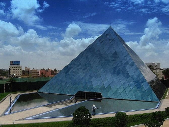 33 best Pyramid shaped buildings images on Pinterest ...