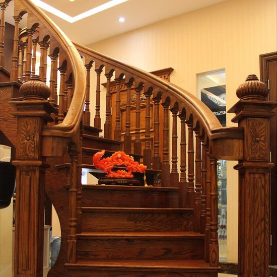 China Wood Steps Design Residential Wooden Spiral Stairs ...