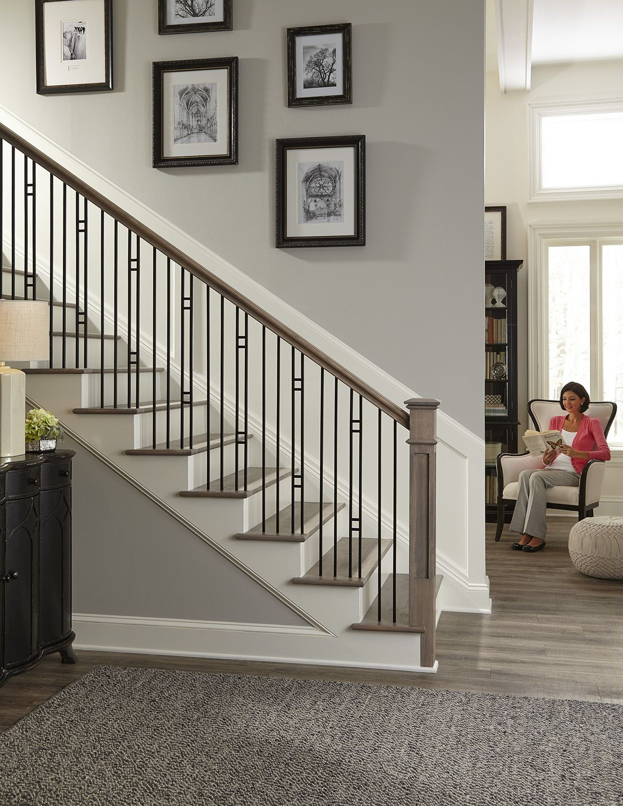 Plain bar balusters can be paired with a variety of ...