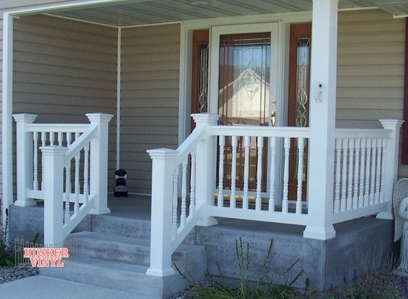 White Vinyl Porch Railing | Link to enlarged view of ...