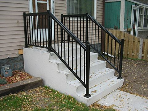 Home Depot Wrought Iron Step Railing | Steps - Parsons ...