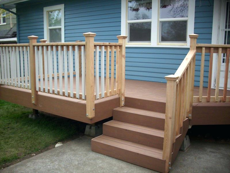 Simple Patio Stair Handrails For Porch Steps Iron Metal ...
