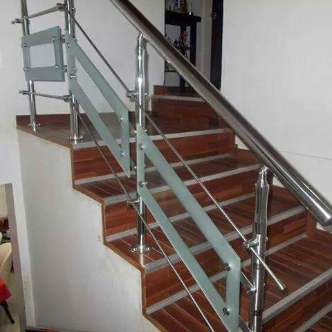 Bar Cast Iron Stainless Steel Railings With Glass Designs ...