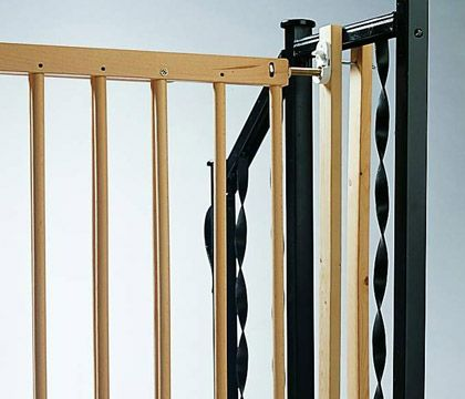 Image result for baby gate for rod iron railing (With ...